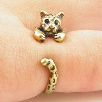 Vintage-Gold Leopard Ring | KejaJewelry - Jewelry on ArtFire