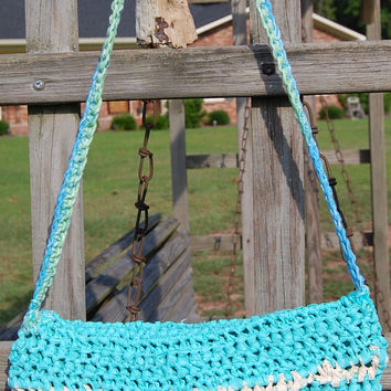 Aqua or Turquoise Shoulder Bag