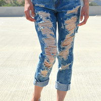 Boyfriend Jeans - Deep Wash | Shop Civilized