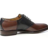 SHOEPASSION.com – Goodyear-welted Saddle Shoes in dark brown