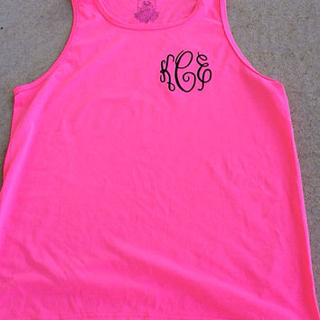 Monogrammed Tank-Beach-Several colors to choose from