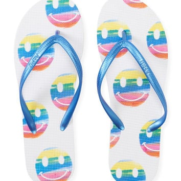 Rainbow Smiley Flip-Flop