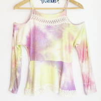 LISA TIE DYED KNIT TOP