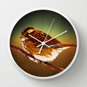 On a Branch Wall Clock by Texnotropio