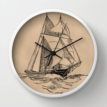 Sailing Wall Clock by Texnotropio