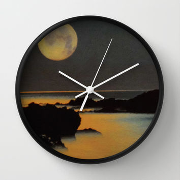 Moonlight Veil Wall Clock by Texnotropio