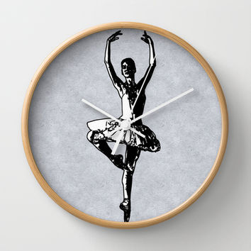 The Ballerina Wall Clock by Texnotropio