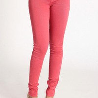 Boardwalk Stroll Coral Skinnies By Blank NYC
