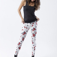 Roses White Leggings - LIMITED | Black Milk Clothing
