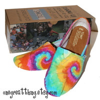Tie Dye TOMS Shoes Womens Sizes hand dyed by One by onegreatthing