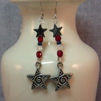 Shining Star Earrings | SolanaKaiDesigns - Jewelry on ArtFire