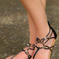 Modern Trails Sandals-Black
