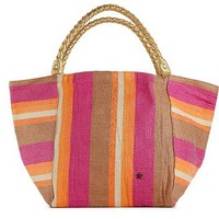 Beach by Flora Bella Stripe Braided Handle Tote