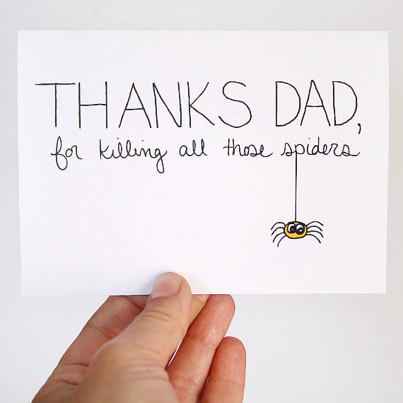 Father's Day Card Card for Dad Thanks For Killing by JulieAnnArt