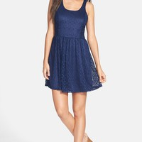 Socialite Lace Skater Dress (Juniors)