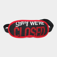 Sorry We re Closed Eye Mask | MoMA Store