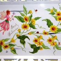 Ornate yellow floral  Just Believe Fairy  by MoanasUniqueDesigns