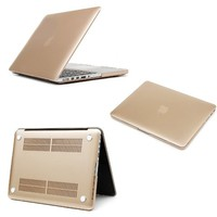 "Pioneer Tech® Metallic Champagne Gold Macbook Rubber Hard Skin Case Cover (MacBook Retina 15.4"" A1398)"