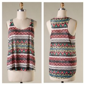 Black Multi Colored Aztec Plus Tank