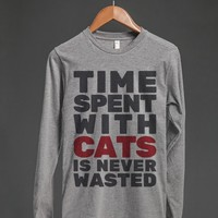 TIME SPENT WITH CATS IS NEVER WASTED LONG SLEEVE T-SHIRT ID6201938