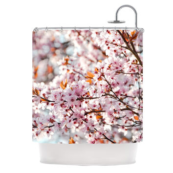 "Iris Lehnhardt ""Flowering Plum Tree"" Pink Blossoms Shower Curtain"