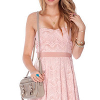 Anna Laced Dress in Rose :: tobi