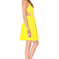Swing, Swing, Swing Dress in Yellow :: tobi