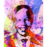 Nelson Mandela Watercolor Art Print by Anna Malkin at eu.art.com