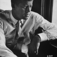 Sen. John F. Kennedy During His Presidential Campaign Photographic Print at eu.art.com