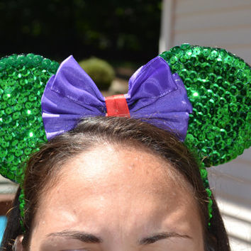LITTLE MERMAID Inspired Minnie Ears - Ariel