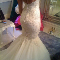 Custom lace wedding dress for Megan