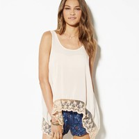 's Don't Ask Why Lace Hem Tank
