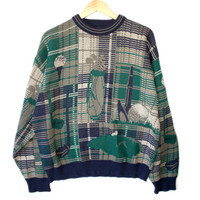 """Magic Eye"" Men's Plaid Tacky Ugly Golf Sweater"