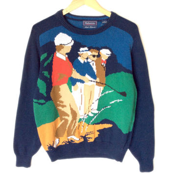 Hathaway Men's Loud Obnoxious Tacky Ugly Golf Sweater