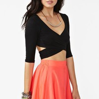 Crossed Out Crop Top in Clothes Tops at Nasty Gal