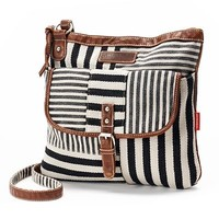 Unionbay Striped Patch Crossbody Bag