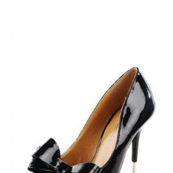 Black Pumps / High Heels - Anne Marie Bow Heels | UsTrendy