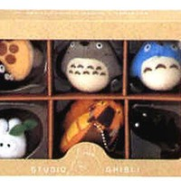 Studio Ghibli Complete Box 6 Figure Mascots with Key Ball Chain Ver.1