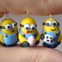 Despicable Me Minion Charm Necklace or by SimplyEncharming on Etsy