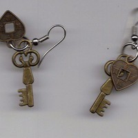 Wild Ivy Design | Heart and Key Earrings | Online Store Powered by Storenvy