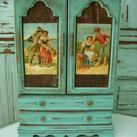 Shabby Jewelry Box Romantic Gypsy Lovers by honeystreasures