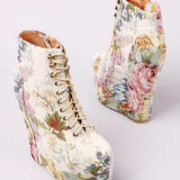 Jeffrey Campbell Damsel in Natural Floral at AKIRA | Jeffrey Campbell Damsel | shopAKIRA.com