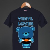 Vinyl Lover Unisex Heavyweight T-Shirt by Cheerful Madness