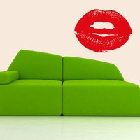 Housewares Vinyl Decal Lady Lips Home Wall Art Decor Removable Stylish Sticker Mural Unique Design for Nursery Room