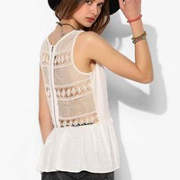 LIV Lace-Back Tunic Cami - Urban Outfitters