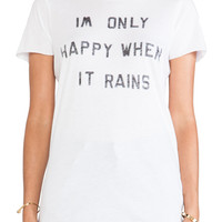 Zoe Karssen Happy Rain Tee in White