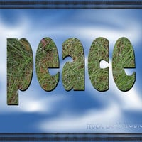 Peace in the sky, an Instant download, Peace typography, peaceful sign 8x10 print, peace sign of grass with blue sky background, printable