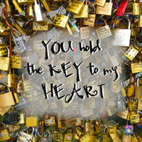 Key to my heart printable love quote, French love padlocks instant download, digital love locks print, love wall art, diy romantic love card