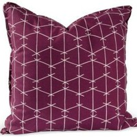 One Kings Lane - Ferrick Mason - Ferrick Mason Pillow, Purple Criss Cross
