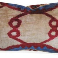 Sofia Ikat Pillow, Multicolored - One Kings Lane - Vintage & Market Finds - Textiles